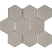 Waterford Taupe Hexagon Mosaic Tile