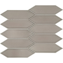 Taupe Glossy Mosaic Picket Tile