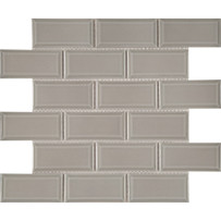 Waterford Taupe Mosaic Tile Beveled Glossy Finish