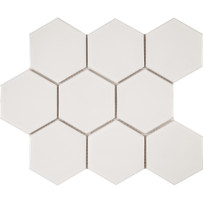 Waterford White Hexagon Mosaic Tile