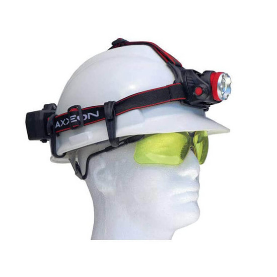 Large head band will fit on hard hats