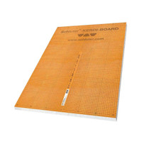 Kerdi-Board can be used for creating bonded waterproofing assemblies with tile coverings