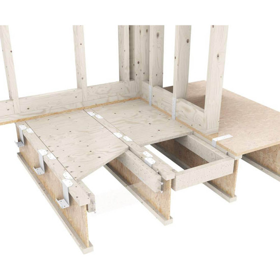 Lowering shower subfloor between joists