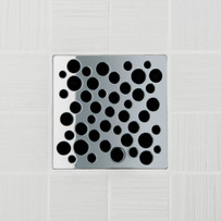 Ebbe UNIQUE Bubbles Shower Drain Cover, Polished Chrome Finish