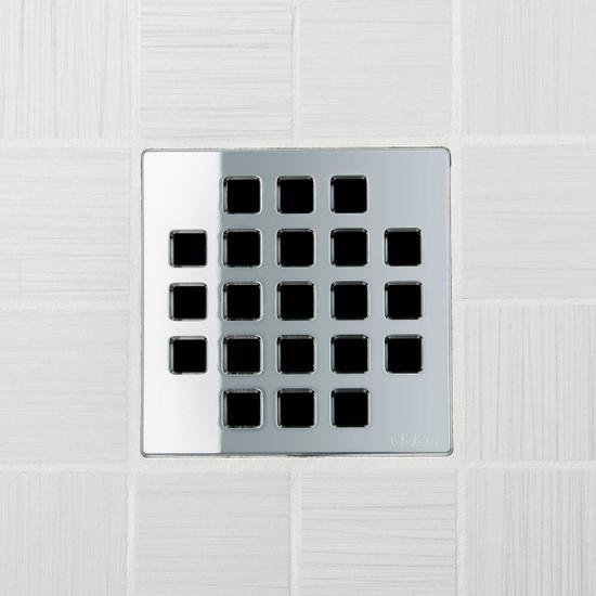 Ebbe UNIQUE Classic Shower Drain Cover, Polished Chrome Finish