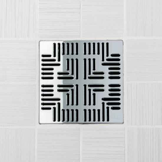 Ebbe UNIQUE Navajo Shower Drain Cover, Polished Chrome Finish