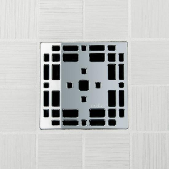 Ebbe UNIQUE Prairie Shower Drain Cover, Polished Chrome