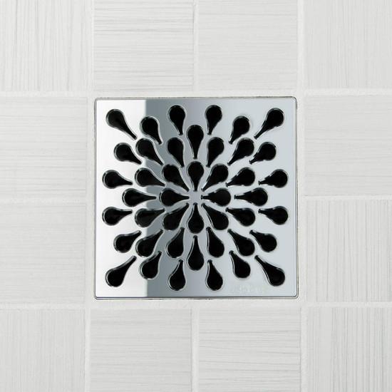 Ebbe UNIQUE Splash Shower Drain Cover, Polished Chrome Finish