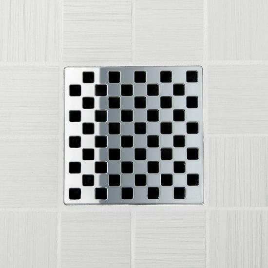 Ebbe UNIQUE Weave Shower Drain Cover, Polished Chrome Finish