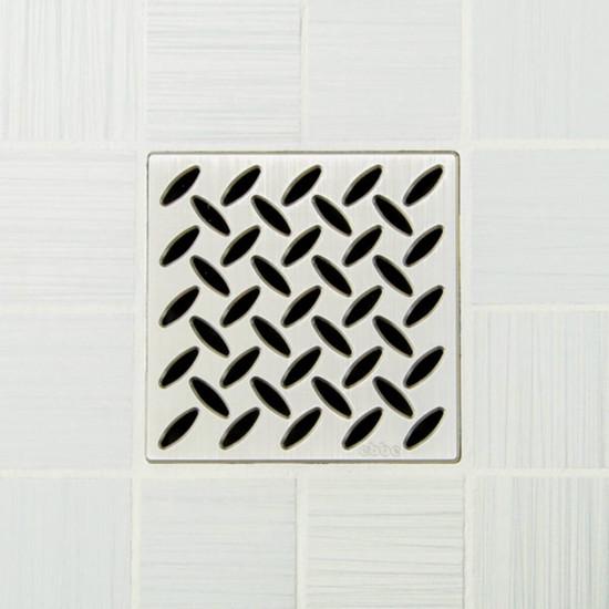 Ebbe UNIQUE Diamond Shower Drain Cover, Brushed Nickel Finish