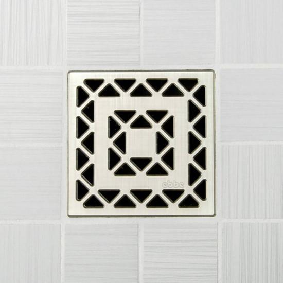 Ebbe UNIQUE Lattice Shower Drain Cover, Brushed Nickel Finish