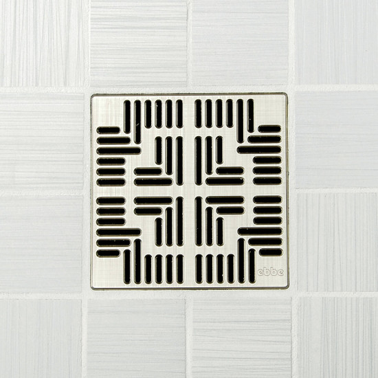 Ebbe UNIQUE Navajo Shower Drain Cover, Brushed Nickel Finish