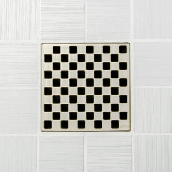 Ebbe UNIQUE Weave Shower Drain Cover, Brushed Nickel Finish