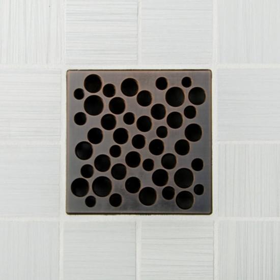 Ebbe UNIQUE Bubbles Shower Drain Cover, Oil Rubbed Bronze Finish