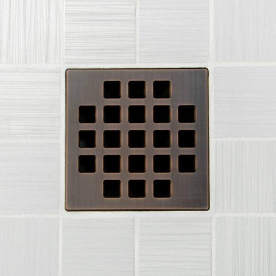 Ebbe UNIQUE Classic Shower Drain Cover, Oil Rubbed Bronze Finish
