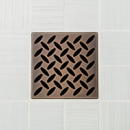 Ebbe UNIQUE Diamond Shower Drain Cover, Oil Rubbed Bronze Finish