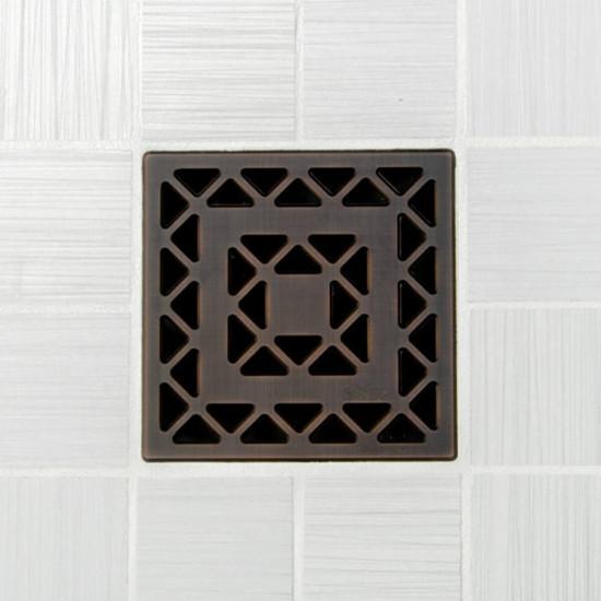 Ebbe UNIQUE Lattice Shower Drain Cover, Oil Rubbed Bronze Finish