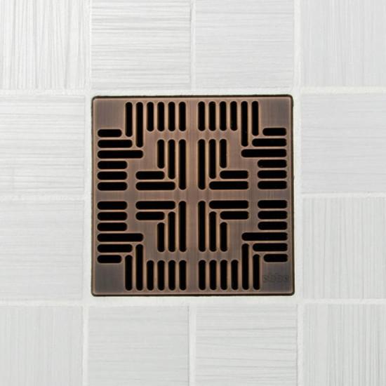 Ebbe UNIQUE Navajo Shower Drain Cover, Oil Rubbed Bronze Finish