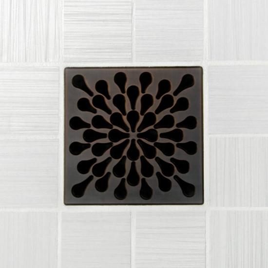 Ebbe UNIQUE Splash Shower Drain Cover, Oil Rubbed Bronze Finish