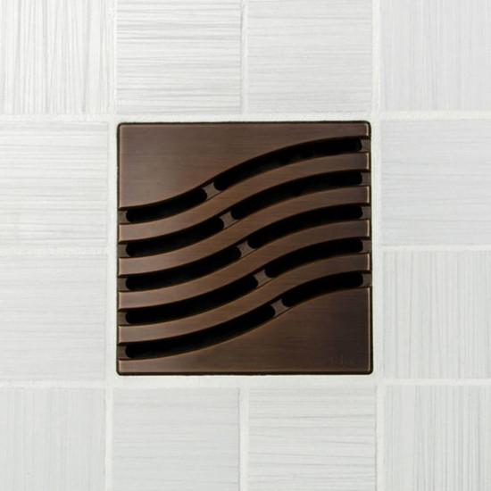 Ebbe UNIQUE Tsunami Shower Drain Cover, Oil Rubbed Bronze Finish