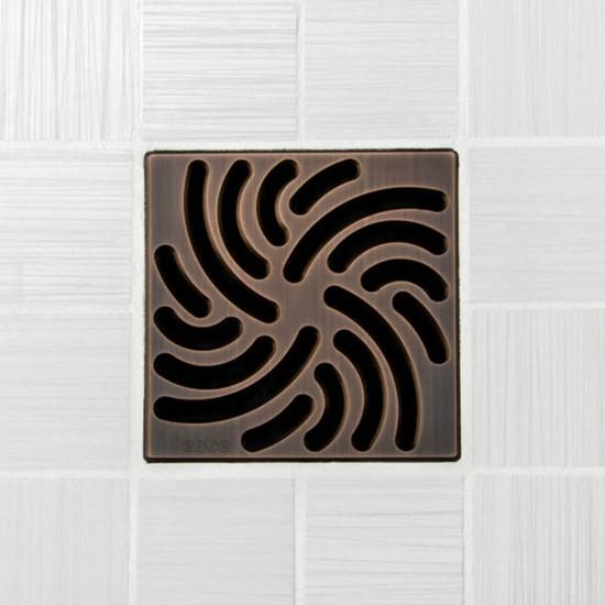 Ebbe UNIQUE Twister Shower Drain Cover, Oil Rubbed Bronze Finish