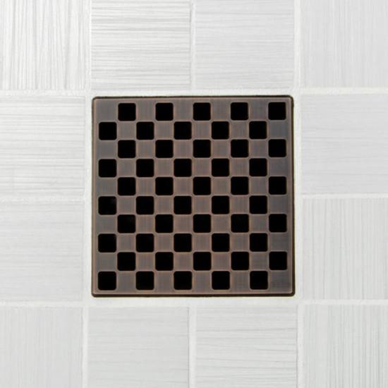 Ebbe UNIQUE Weave Shower Drain Cover, Oil Rubbed Bronze Finish