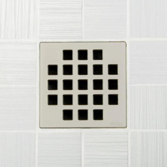 Ebbe UNIQUE Classic Shower Drain Cover, Satin Nickel Finish
