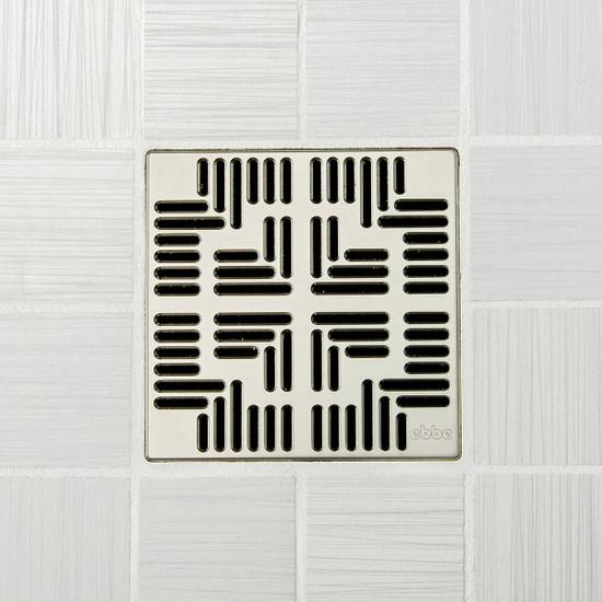 Ebbe UNIQUE Navajo Shower Drain Cover, Satin Nickel Finish