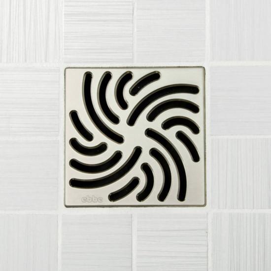Ebbe UNIQUE Twister Shower Drain Cover, Satin Nickel Finish