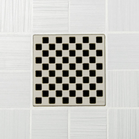 Ebbe UNIQUE Weave Shower Drain Cover, Satin Nickel Finish