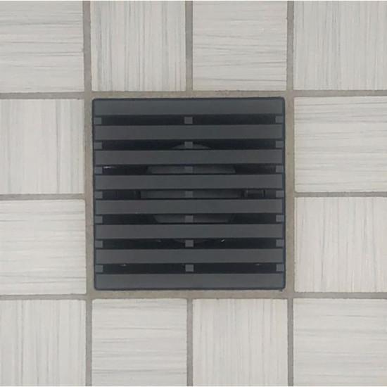 Ebbe UNIQUE Parallel Shower Drain Cover, Matte Black Finish