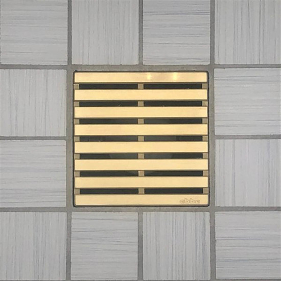 Ebbe UNIQUE Parallel Shower Drain Cover, Brushed Gold Finish