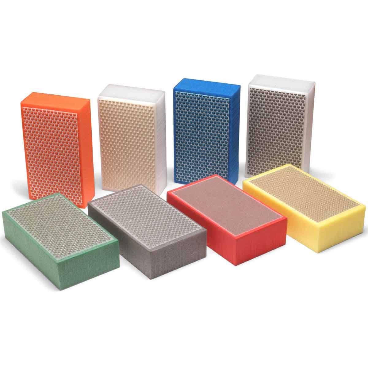 C913H101R Set of 8 Foam Diamond Hand Polishing Pad Kit