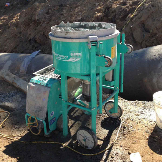 Imer Mortarman Cement Mixer On Site