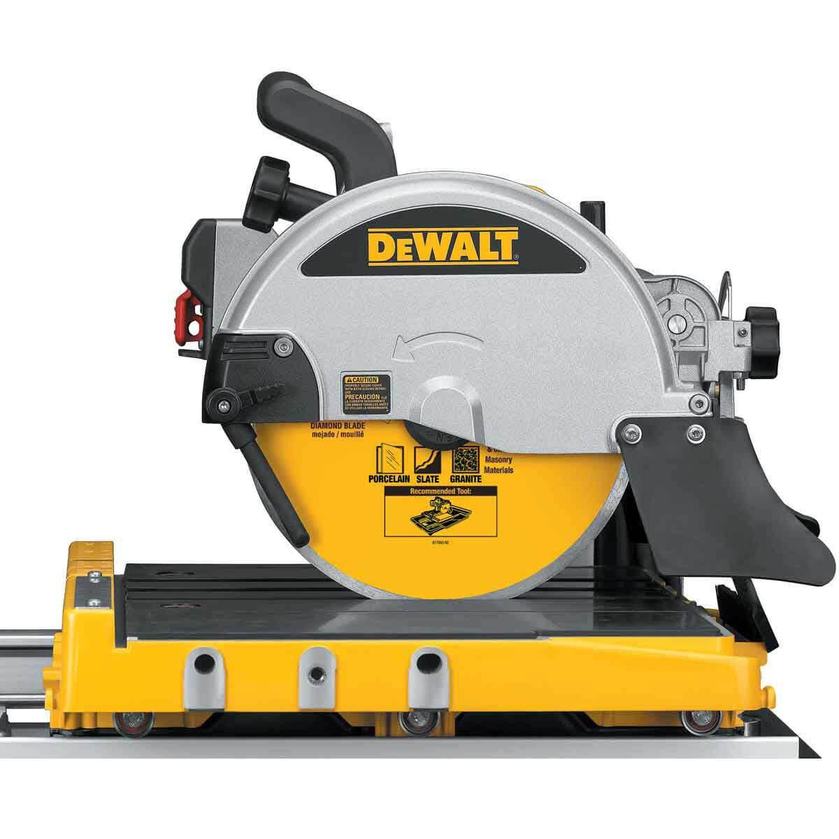 dewalt d24000 tile saw side view