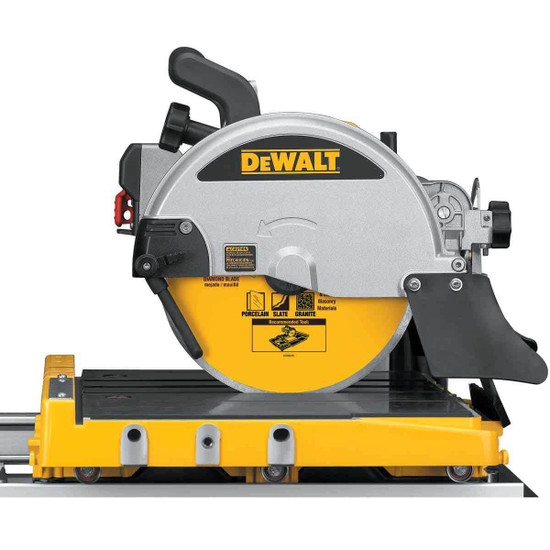 Dewalt D24000 Tile Saw close up side view