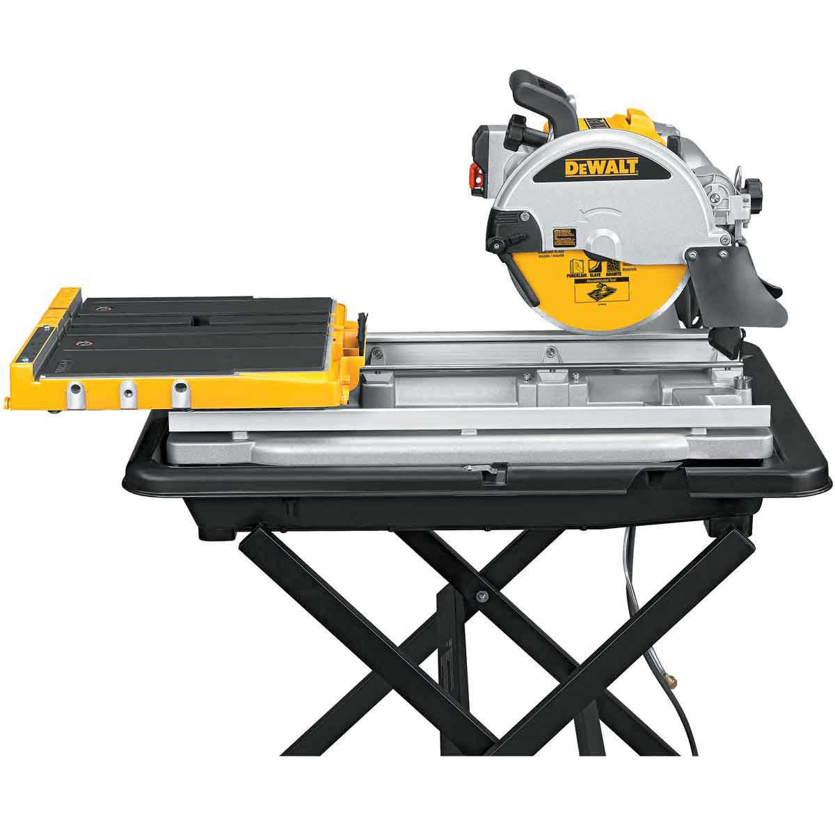 dewalt d24000 tile saw side view 2