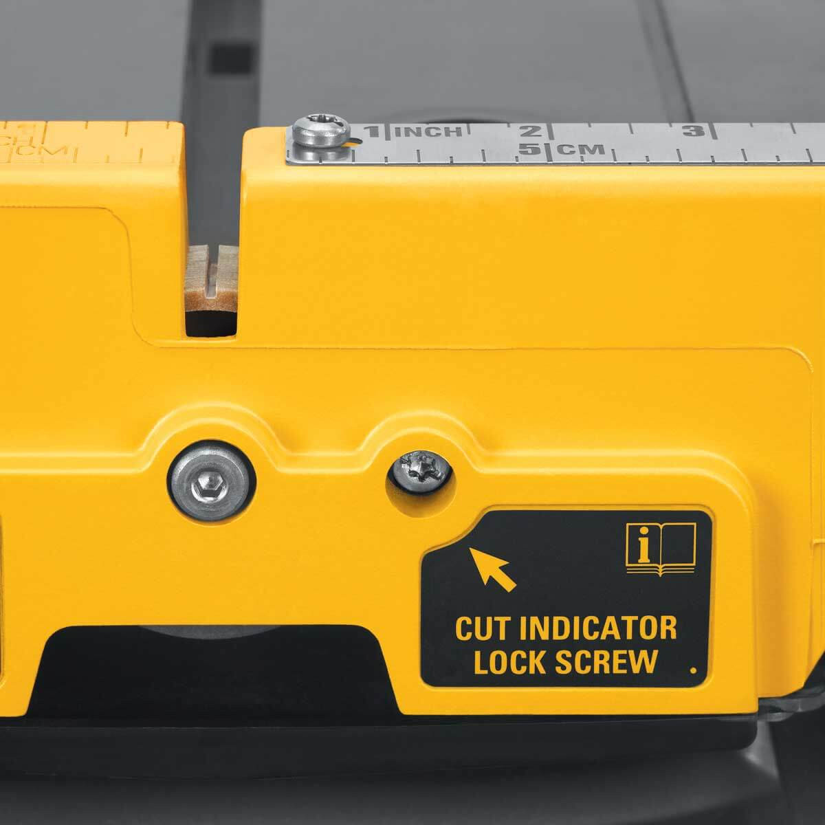 dewalt tile saw cut indicator screw