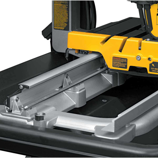Dewalt D24000 Tile Saw stainless steel rail system