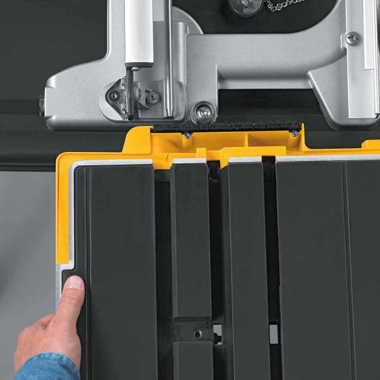 Dewalt D24000 Tile Saw carriage tray installation