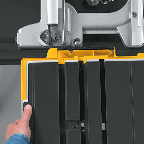 Dewalt D24000 Tile Saw carriage tray installation