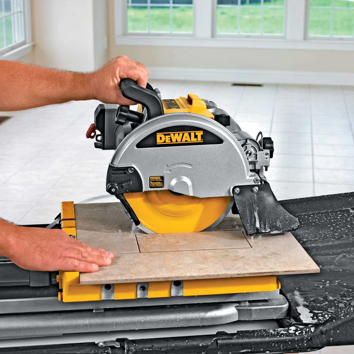 dewalt d24000 tile saw plunge cut