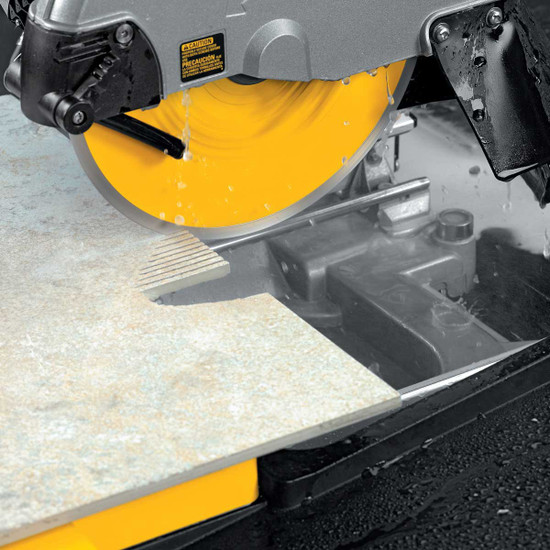 Dewalt D24000 Tile Saw round cut