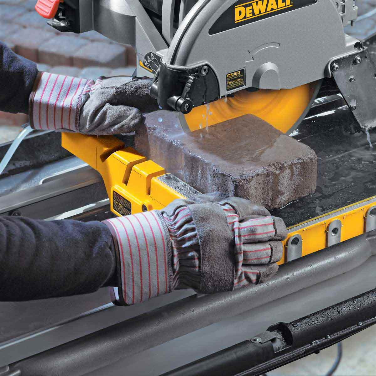 dewalt d24000 tile saw brick cut