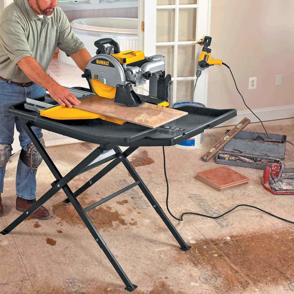 Tile Saw Wet Saw Dewalt Tile Saw Contractors Direct