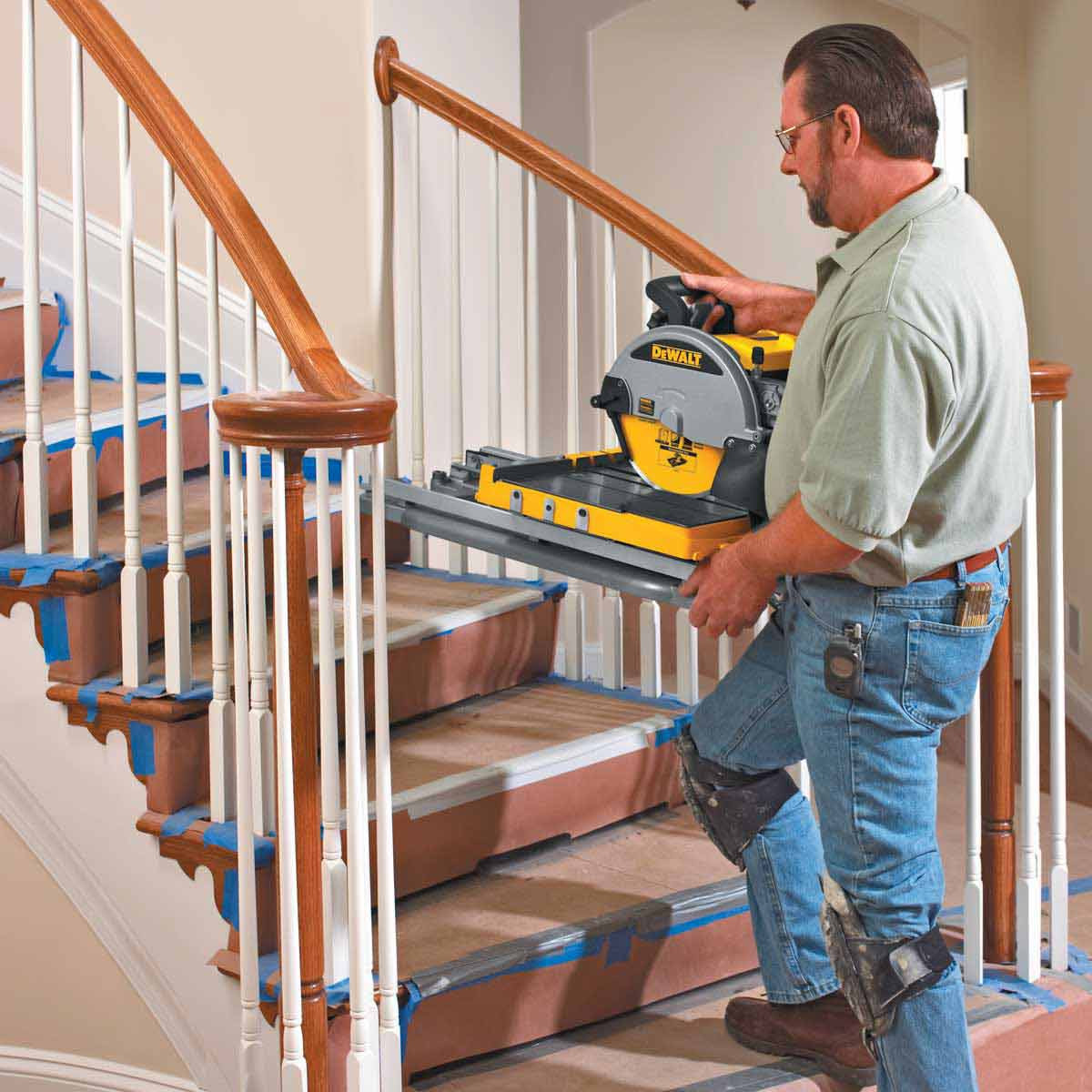 dewalt tile saw easy transport