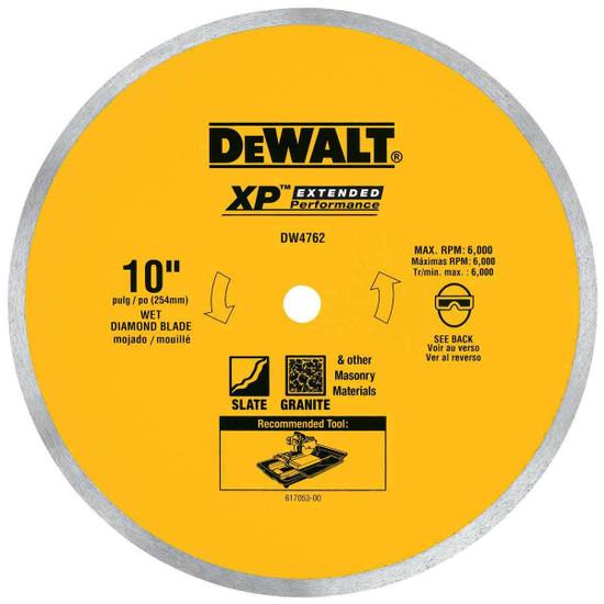 Dewalt DW4762 Wet tile saw Porcelain Blade