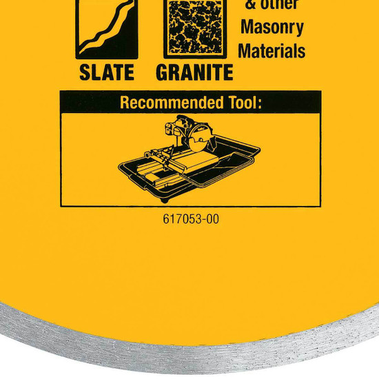 Porcelain tile blade for chip-free, clean cuts, tiles, granite, and slate