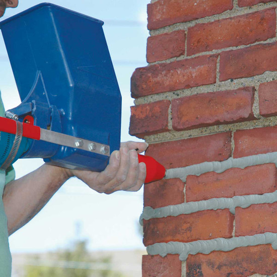 Tuck Pointing Brick with Quikpoint Mortar Gun