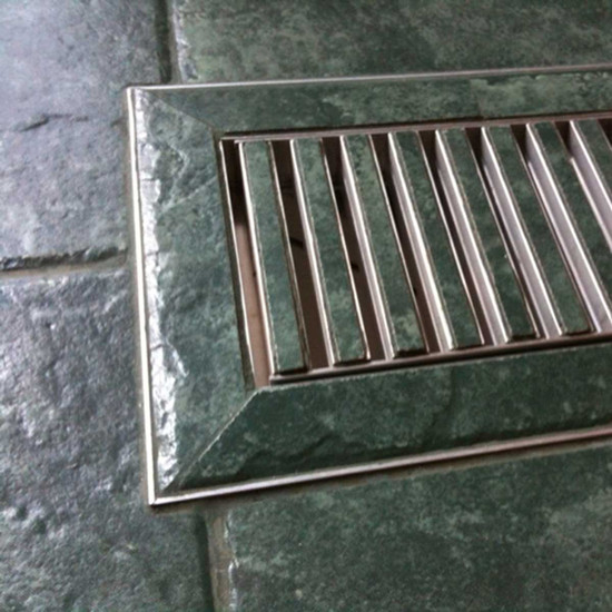 Tile Vent Floor Registers custom installation flush with surrounding material